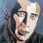 Nicholas Cage are un portret din seminţe, la Arad
