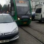 Tramvaie blocate în centrul Aradului