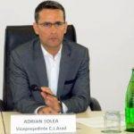 Adrian Țolea, ales președinte interimar al CJ Arad