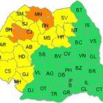 Cod galben de ploi pentru județul Arad