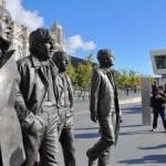 O statuie din bronz a formaţiei The Beatles a fost inaugurată la Liverpool.