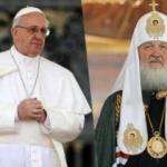 Întâlnire istorică. Papa Francisc şi Patriarhul Chiril au făcut apel la unitatea creştinilor