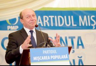 Traian Băsescu deschide lista candidaţilor PMP la alegerile pentru Parlamentul European