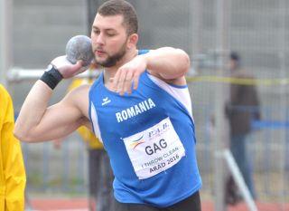 Arădeanul Andrei Gag, campion naţional indoor la aruncarea greutăţii