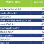 Top angajatori din industria producătoare de mobilă – Regiunea Vest