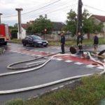Gospodării şi străzi inundate, în municipiul Arad