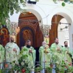 Hramul bisericii noi de la Mănăstirea Hodoş-Bodrog
