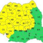 Cod galben de ploi şi furtuni pentru județul Arad