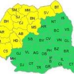 Cod galben de vijelii pentru județul Arad