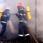 Incendiu la un depozit de deşeuri mase plastice