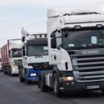Transportatorii au protestat, din nou, pe centura Aradului