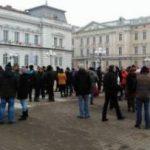 Protest faţă de proiectele privind graţierea şi Codul Penal, la Arad