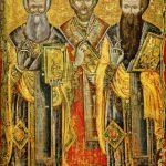 Praznicul Sfinţilor Trei Ierarhi: Vasile cel Mare, Grigore Teologul şi Ioan Gură de Aur