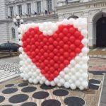Inimă pentru îndrăgostiți, în centrul Aradului