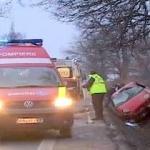 Accident pe DN 69. Un şofer băut a ajuns cu maşina în şanţ
