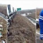 """Apelul drumarilor: """"Păstrați curățenia pe autostradă!"""""""