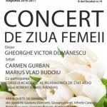 Concert de Ziua Femeii, la Filarmonica de Stat Arad. PROGRAM
