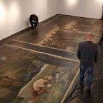 """Tripticul """"Înmormântarea lui Hristos"""", restaurat și expus la Arad"""