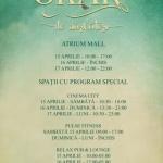 Programul Atrium Mall în perioada Sărbătorilor Pascale
