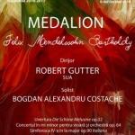 Medalion Felix Mendelssohn Bartholdy, la Filarmonica de Stat Arad