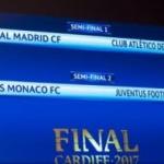 Real Madrid – Atletico Madrid și Monaco – Juventus, în semifinalele Ligii Campionilor