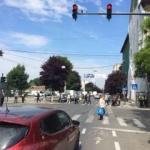 Intersecția străzilor Crișan cu Tudor Vladimirescu, semaforizată