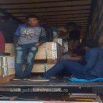 91 de migranți din Irak şi Siria, găsiți ascunși într-un TIR
