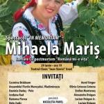 Spectacol extraordinar In Memoriam Mihaela Mariş