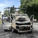 O camionetă a luat foc pe DN 7