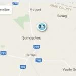 Două cutremure într-o noapte, în județul Arad
