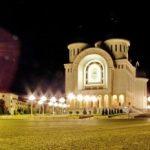Procesiune cu icoane la Catedrala Arhiepiscopală din Arad