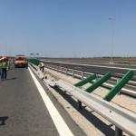 Furtuna a produs pagube pe autostrada Arad-Timişoara