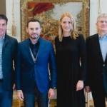 Preşedintele Federaţiei Române de Înot, Camelia Potec, în vizită la Arad
