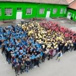 """Tricolor uman la Colegiul Naţional """"Vasile Goldiş"""" din Arad"""