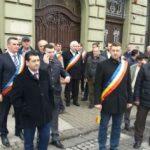 Primarii și viceprimarii PNL, protest în centrul Aradului