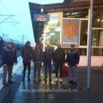 Migranți ascunși într-un tren de marfă, depistați la Curtici