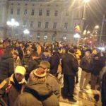 Protest împotriva modificării legilor justiţiei, în centrul Aradului