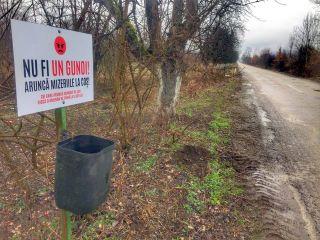 """Mesajul primăriței din Petriș: """"Nu fi un gunoi, aruncă mizeriile la coș!"""""""