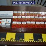 Țigări de contrabandă, găsite ascunse într-un sac menajer