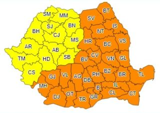 Avertizare cod galben de ger pentru județul Arad