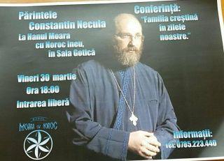 Părintele Constantin Necula va conferenția la Arad și Ineu