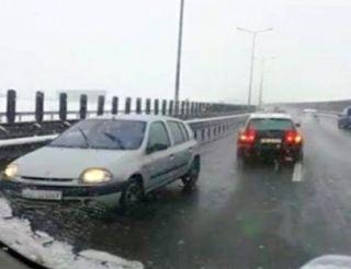 Șofer surprins în timp ce mergea pe contrasens pe Autostrada Arad – Timişoara