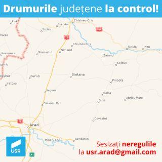 """USR Arad lansează proiectul """"Drumurile la control"""""""