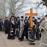 """Procesiunea ,,Drumul Crucii"""", la Mănăstirea Hodoş-Bodrog"""