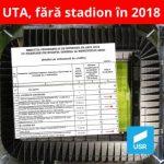 USR Arad: Primăria nu a planificat finalizarea stadionului UTA pentru 2018