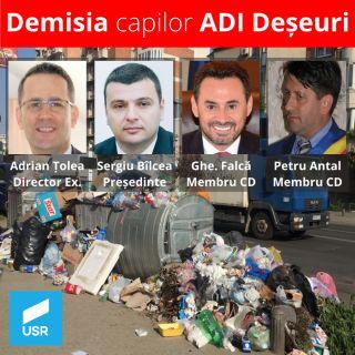 USR Arad cere demisia capilor de la ADI Deșeuri
