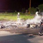 UPDATE Trei rulote distruse într-un incendiu, pe o stradă din Arad