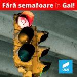 USR: Semafoarele inteligente din Gai nu fac parte deocamdată din prioritățile Primăriei Arad