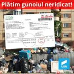 USR Arad: Am primit factura pentru luna aprilie, când gunoiul zăcea pe străzi