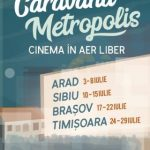 Caravana Metropolis, la Arad. Filme europene proiectate în aer liber